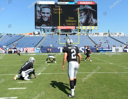Editorial photo of Raiders Titans Football, Nashville, USA - 10 Sep 2017