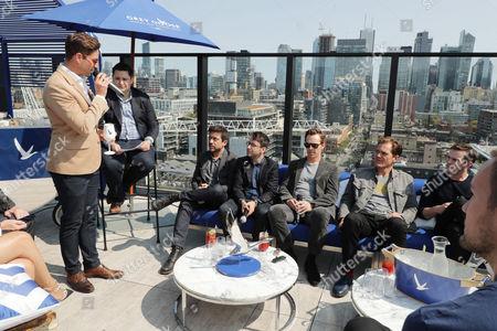 Joe McCanta, Global Brand Ambassador at Grey Goose vodka, Joe Utichi, Alfonso Gomez-Rejon, Director, Michael Mitnick, Writer/Executive Producer, Benedict Cumberbatch, Michael Shannon and Nicholas Hoult