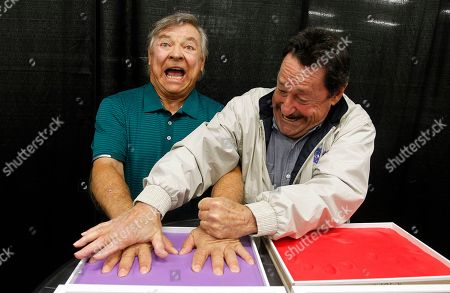 Peter Cullen, Frank Welker. Peter Cullen, right, the voice of OPTIMUS PRIME, helps Frank Welker, the voice of MEGATRON, make handprints in Play-Doh compound at HASCON ? the first-ever FANmily? event from Hasbro, Inc.,, in Providence, R.I