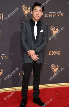 Lance Lim arrives at night two of the Television Academy's 2017 Creative Arts Emmy Awards at the Microsoft Theater, in Los Angeles