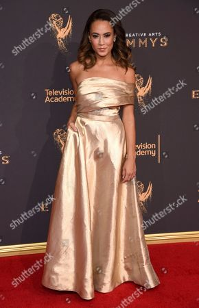 Alex Hudgens arrives at night two of the Television Academy's 2017 Creative Arts Emmy Awards at the Microsoft Theater, in Los Angeles