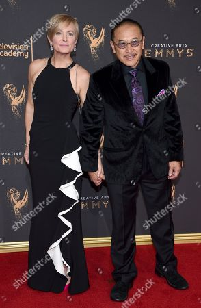 Jordana Lew, James Lew. Jordana Lew, left, and James Lew arrive at night two of the Television Academy's 2017 Creative Arts Emmy Awards at the Microsoft Theater, in Los Angeles