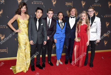 "Stock Picture of Jama Williamson, Lance Lim, Ricardo Hurtado, Breanna Yde, Tony Cavalero, Jade Pettyjohn, Aidan Miner. Cast of ""School of Rock"" arrives at night two of the Television Academy's 2017 Creative Arts Emmy Awards at the Microsoft Theater, in Los Angeles"