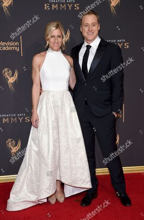 Charissa Barton, Alan Tudyk. Charissa Barton, left, and Alan Tudyk arrive at night two of the Television Academy's 2017 Creative Arts Emmy Awards at the Microsoft Theater, in Los Angeles