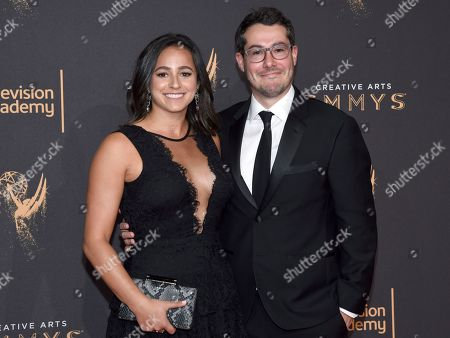 Meredith Allenick, Josh Berger. Meredith Allenick, left, and Josh Berger arrive at night two of the Television Academy's 2017 Creative Arts Emmy Awards at the Microsoft Theater, in Los Angeles
