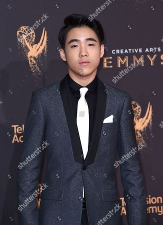 Lance Lim arrives at night two of the Creative Arts Emmy Awards at the Microsoft Theater, in Los Angeles