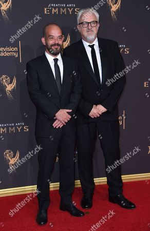 Adriano Goldman, Martin Childs. Adriano Goldman, left, and Martin Childs arrive at night two of the Creative Arts Emmy Awards at the Microsoft Theater, in Los Angeles