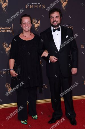 Stock Photo of David Buckley arrives at night two of the Creative Arts Emmy Awards at the Microsoft Theater, in Los Angeles