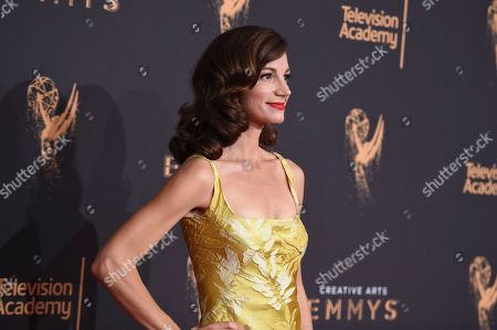 Jama Williamson arrives at night two of the Creative Arts Emmy Awards at the Microsoft Theater, in Los Angeles