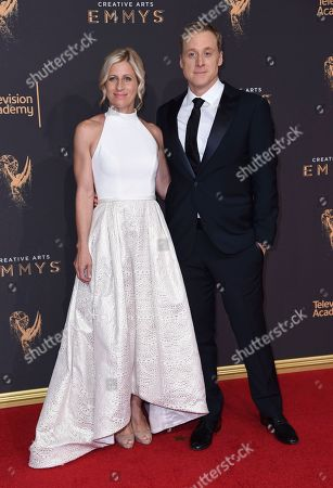 Charissa Barton, Alan Tudyk. Charissa Barton, left, and Alan Tudyk arrive at night two of the Creative Arts Emmy Awards at the Microsoft Theater, in Los Angeles