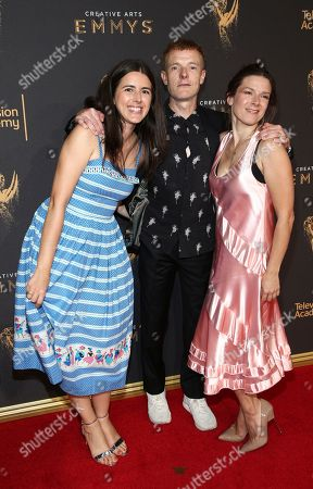 Natalie Ann Holt, Martin Phipps, Ruth Barrett. Natalie Ann Holt, from left, Martin Phipps, and Ruth Barrett arrive at night two of the Television Academy's 2017 Creative Arts Emmy Awards at the Microsoft Theater, in Los Angeles