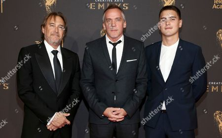 Gregg Fienberg, Jean-Marc Vallée, Émile Vallée. Gregg Fienberg, from left, Jean-Marc Vallée, and Émile Vallée arrive at night two of the Television Academy's 2017 Creative Arts Emmy Awards at the Microsoft Theater, in Los Angeles