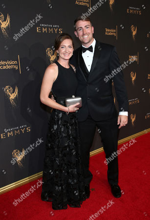 Tara Bennett, Zach Bennett. Tara Bennett, left, and Zach Bennett arrive at night two of the Television Academy's 2017 Creative Arts Emmy Awards at the Microsoft Theater, in Los Angeles