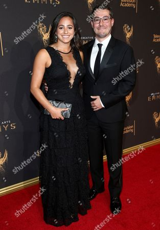 Josh Berger, Meredith Allenick. Josh Berger, right, and Meredith Allenick arrive at night two of the Television Academy's 2017 Creative Arts Emmy Awards at the Microsoft Theater, in Los Angeles