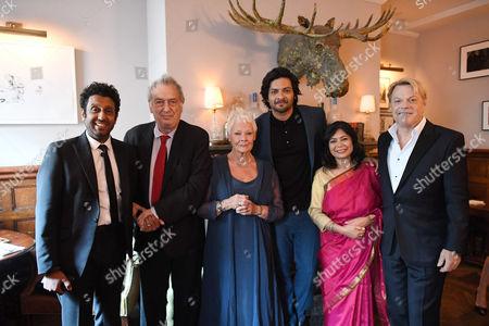 Adeel Akhtar, Stephen Frears, Director, Judi Dench, Ali Fazal, Shrabani Basu, and Eddie Izzard