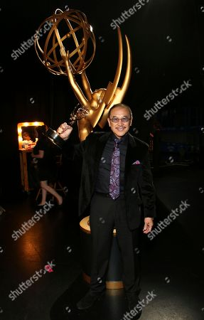 """James Lew, winner of the award for outstanding stunt coordination for a drama series, limited series or movie for """"Luke Cage"""", attends night two of the Television Academy's 2017 Creative Arts Emmy Awards at the Microsoft Theater, in Los Angeles"""