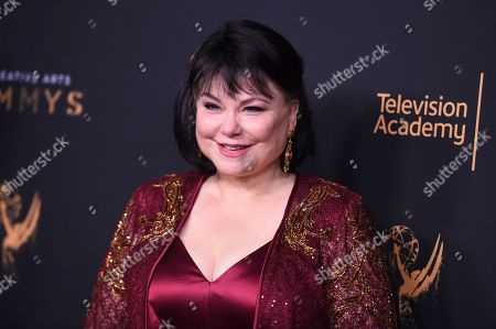 Delta Burke poses in the press room during night two of the Creative Arts Emmy Awards at the Microsoft Theater, in Los Angeles