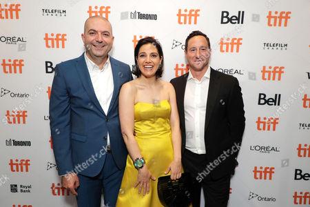 Hany Abu-Assad, Director, Amira Diab, Associate Producer, and David Ready, Producer