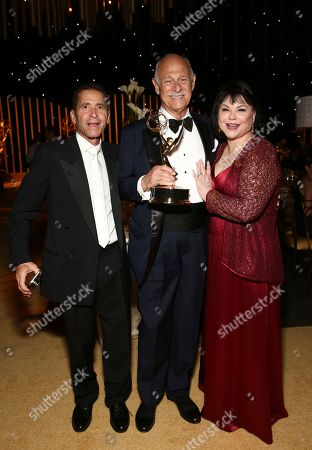 Gerald McRaney, Delta Burke. Gerald McRaney, center, and Delta Burke, right, attend the Governors Ball during night two of the Television Academy's 2017 Creative Arts Emmy Awards at the Microsoft Theater, in Los Angeles