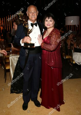 Gerald McRaney, Delta Burke. Gerald McRaney and Delta Burke at the Governors Ball during night two of the Television Academy's 2017 Creative Arts Emmy Awards at the Microsoft Theater, in Los Angeles