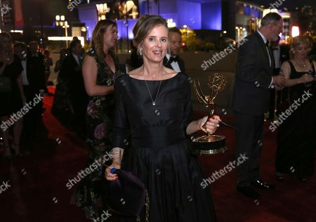"""Susan Jacobs, winner of the award for outstanding music supervision for """"Big Little Lies,"""" attends the Governors Ball during night two of the Television Academy's 2017 Creative Arts Emmy Awards at the Microsoft Theater, in Los Angeles"""