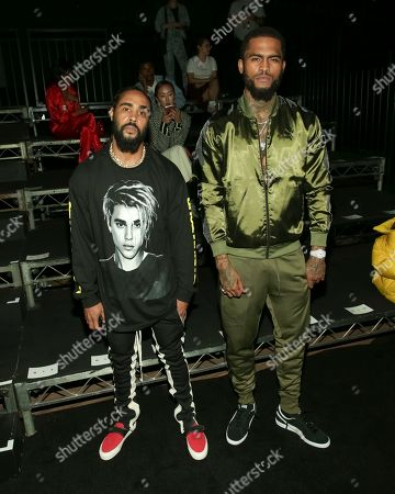 Jerry Lorenzo, Dave East. Designer Jerry Lorenzo, left, and rapper Dave East attend the FENTY PUMA by Rihanna runway show at the Park Avenue Armory, in New York