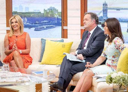 Yvie Burnett, Piers Morgan and Susanna Reid