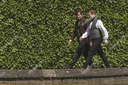 (SR2: Ep5) - Behind the Scenes, Tom Hughes as Albert and Nigel Lindsay as Sir Robert Peel.