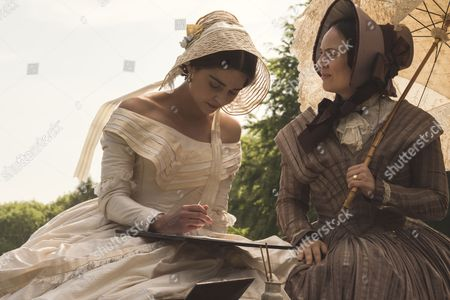 Stock Photo of (SR2: Ep5) - Daniela Holtz as Baroness Lehzen and Jenna Coleman as Victoria.