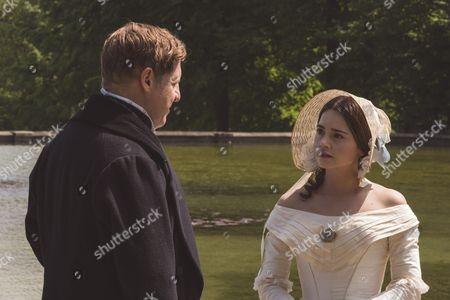 (SR2: Ep5) - Nigel Lindsay as Sir Robert Peel and Jenna Coleman as Victoria.