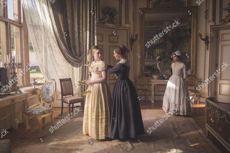 (SR2: Ep5) - Bebe Cave as Wilhemina Coke, Nell Hudson as Skerrett and Emily Warren as French Maid.