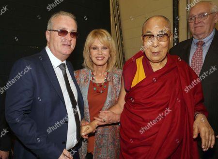 Richard Moore, director, Children in Crossfire, Dalai Lama and Johanna Lumley