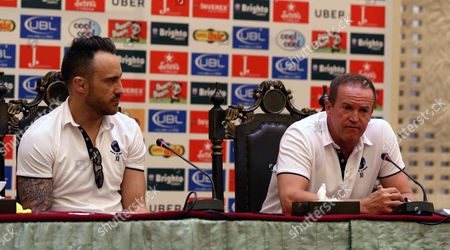 Stock Photo of Andy Flower and Faf du Plessis