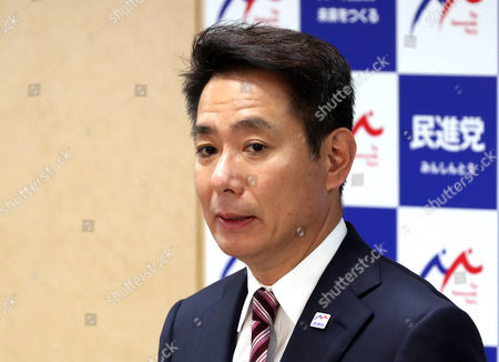 Japan's main opposition Democratic Party new president Seiji Maehara speaks as he named the new executive members