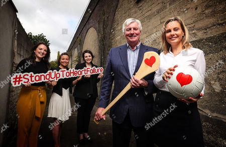 RTE?s Sunday Game presenter Michael Lyster wants you to know the symptoms and risk factors associated with heart failure leading up to World Heart Day, September 29th . Pictured at today?s Stand Up to Heart Failure launch (L-R) Ciara Keane (Heartbeat Trust), Colleen Kneafsey (Croi), Mary Anne Sweeney (Irish Heart), Michael Lyster (RTE's Sunday Game Presenter) and Orlagh O'Connell (Novartis)