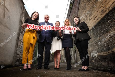 RTE?s Sunday Game presenter Michael Lyster wants you to know the symptoms and risk factors associated with heart failure leading up to World Heart Day, September 29th . Pictured at today?s Stand Up to Heart Failure launch (L-R) Ciara Keane (Heartbeat Trust), Michael Lyster (RTE's Sunday Game Presenter), Colleen Kneafsey (Croi), Orlagh O'Connell (Novartis) and Mary Anne Sweeney (Irish Heart)