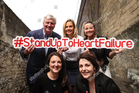 RTE?s Sunday Game presenter Michael Lyster wants you to know the symptoms and risk factors associated with heart failure leading up to World Heart Day, September 29th . Pictured at today?s Stand Up to Heart Failure launch (Back Row L-R) Michael Lyster (RTE's Sunday Game Presenter), Orlagh O'Connell (Novartis) and Colleen Kneafsey (Croi). (Front Row) Ciara Keane (Heartbeat Trust) and Mary Anne Sweeney (Irish Heart)