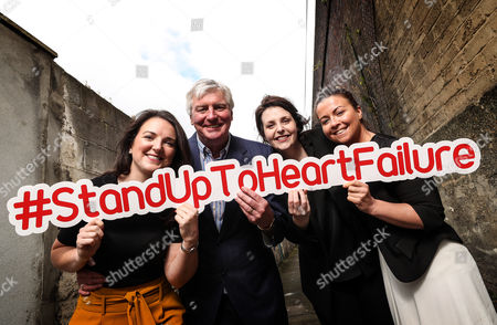 RTE?s Sunday Game presenter Michael Lyster wants you to know the symptoms and risk factors associated with heart failure leading up to World Heart Day, September 29th . Pictured at today?s Stand Up to Heart Failure launch (L-R) Ciara Keane (Heartbeat Trust), Michael Lyster (RTE's Sunday Game Presenter) Mary Anne Sweeney (Irish Heart) and Colleen Kneafsey (Croi)