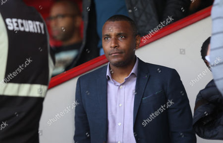 Clinton Morrison Former Crystal Palace player watches the U23 Professional Development match between Crystal Palace U23 and Sheffield Wednesday U23 on 11th September 2017 at Selhurst Park Stadium, Croydon, London.