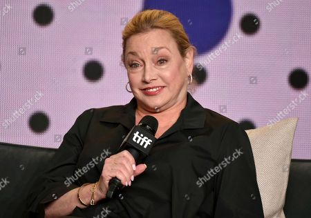 """Director Lili Fini Zanuck speaks at a press conference for """"Eric Clapton: Life in 12 Bars"""" on day 5 of the Toronto International Film Festival at the TIFF Bell Lightbox, in Toronto"""