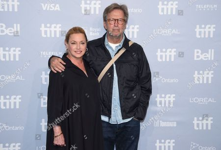 "Lili Fini Zanuck, Eric Clapton. Director Lili Fini Zanuck, left, and Eric Clapton attend a press conference for ""Eric Clapton: Life in 12 Bars"" on day 5 of the Toronto International Film Festival at the TIFF Bell Lightbox, in Toronto"