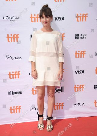 """Stock Photo of Martha MacIsaac attends a premiere for """"Unicorn Store"""" on day 5 of the Toronto International Film Festival at the TIFF Bell Lightbox, in Toronto"""