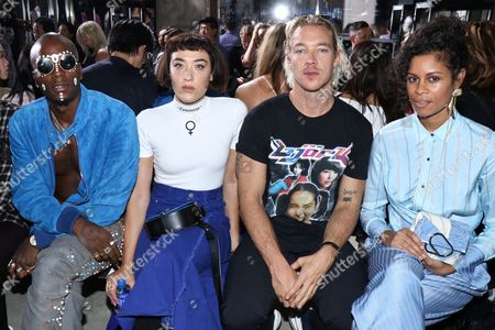 Stock Image of Young Paris, Mia Moretti, Aluna George and Diplo