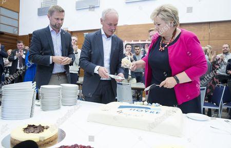 Erna Solberg, Bernt Hoie and Jan Tore Sanner