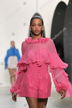 Editorial picture of Prabal Gurung show, Details, Spring Summer 2018, New York Fashion Week, USA - 10 Sep 2017