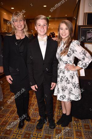 Terri Irwin with son Bob Irwin and daughter Bindi Irwin