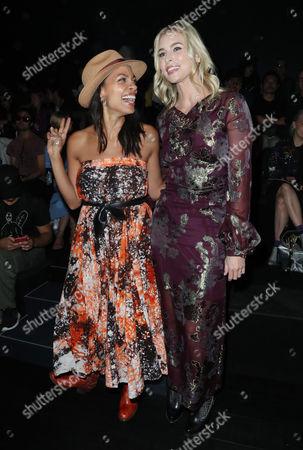 Rosario Dawson and Niki Taylor