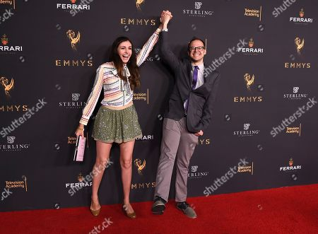 Stock Image of Jennifer Wright, Daniel Kibblesmith. Jennifer Wright, left, and Daniel Kibblesmith attend the 2017 Writers Nominee Reception presented by the Television Academy on at the Saban Media Center in the NoHo Arts District in Los Angeles