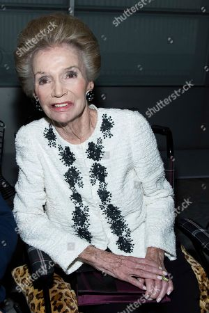 Lee Radziwill attends the Carolina Herrera fashion show as part of NYFW Spring/Summer 2018 on in New York