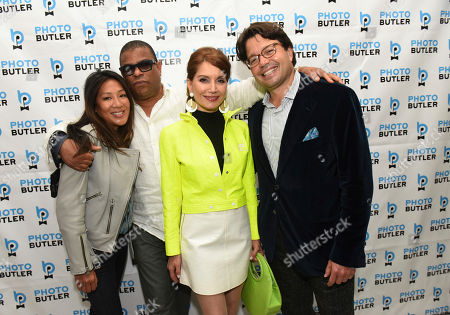 Hillary Latos, George Wayne, Jean Shafiroff, Andy Goldfarb. Andy Goldfarb, right, Founder of Photo Butler, joins co-hosts George Wayne, Vanity Fair celebrity journalist, Jean Shafiroff, second right, philanthropist, and Hillary Latos, left, Editor-in-Chief, Resident Magazine, to celebrate the launch of Photo Butler, a new photo sharing app, during New York Fashion Week